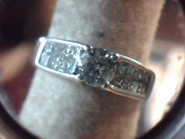Lady's Diamond Engagement Ring 27 Diamonds 2.71 Carat T.W. 14K White Gold 5.7g