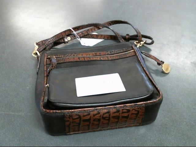 BRAHMIN Handbag BLACK TUSCAN
