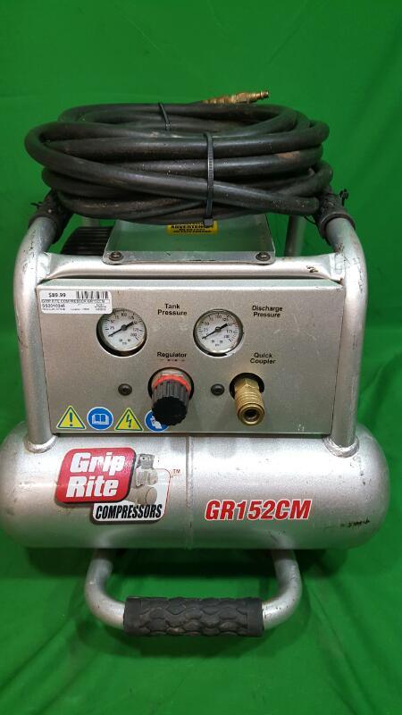 Grip-Rite 1.5-HP 2-Gallon 150-PSI 115-Volt Twin Stack Portable Electric Air Comp