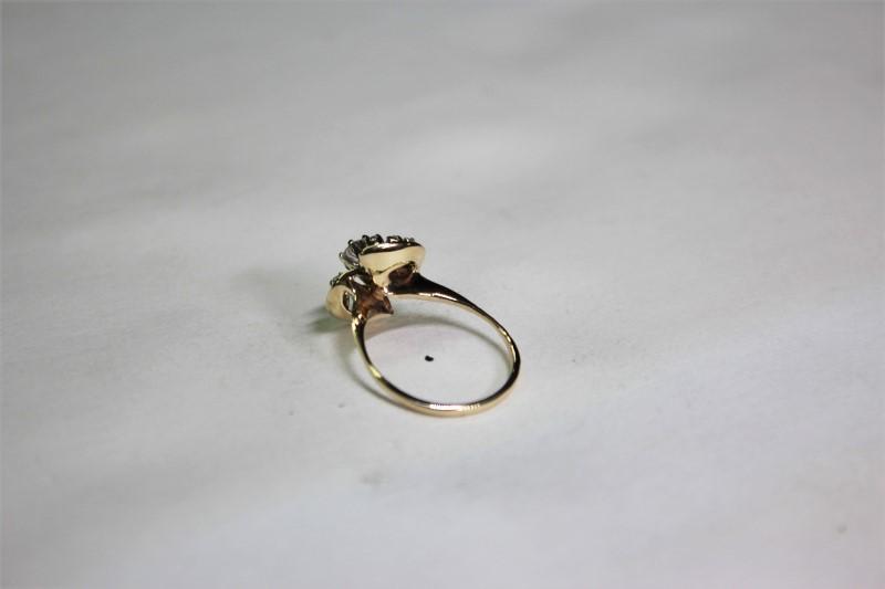 Lady's Diamond Fashion Ring 7 Diamonds .38 Carat T.W. 14K Yellow Gold 2.7g