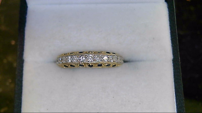 Lady's 14K Sapphire and Diamond Yellow Gold Ring