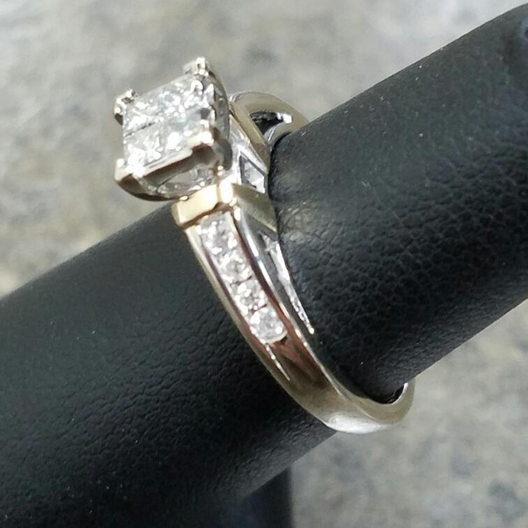 Lady's Diamond Fashion Ring 12 Diamonds .72 Carat T.W. 14K 2 Tone Gold 2.66dwt