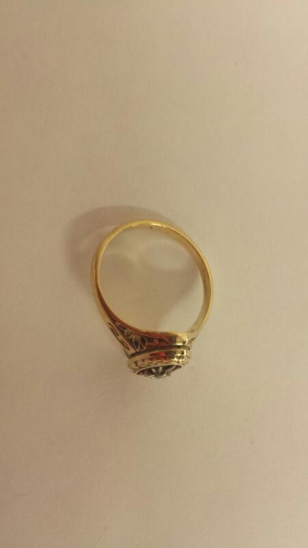 Lds 10K-Y/G Jostens 10 Year Ring 1 Diamond