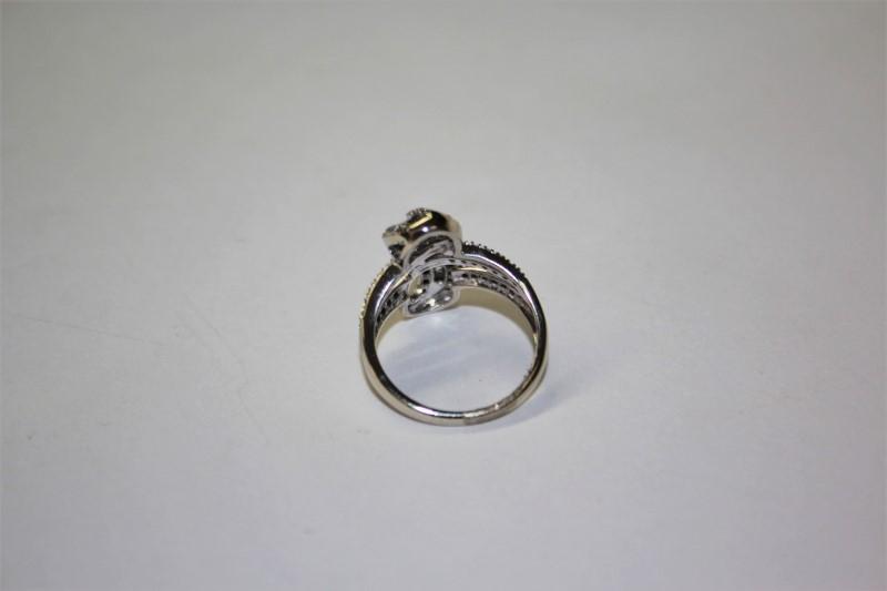 Lady's Diamond Fashion Ring 100 Diamonds 1.20 Carat T.W. 10K White Gold 4.2g