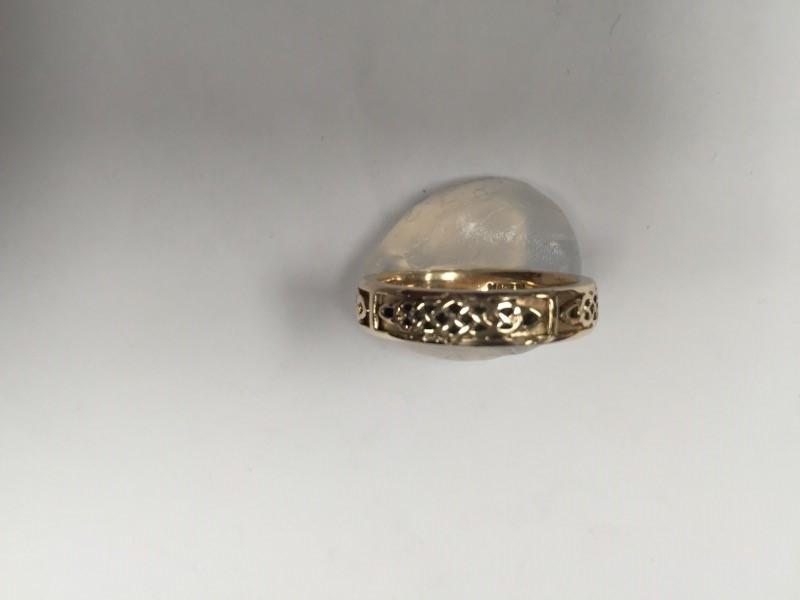 Keltic Lady's Gold Wedding Band 14K Yellow Gold 6.4g Size:8.5