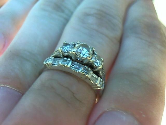 Lady's Diamond Wedding Set 19 Diamonds .94 Carat T.W. 10K White Gold 5.3g