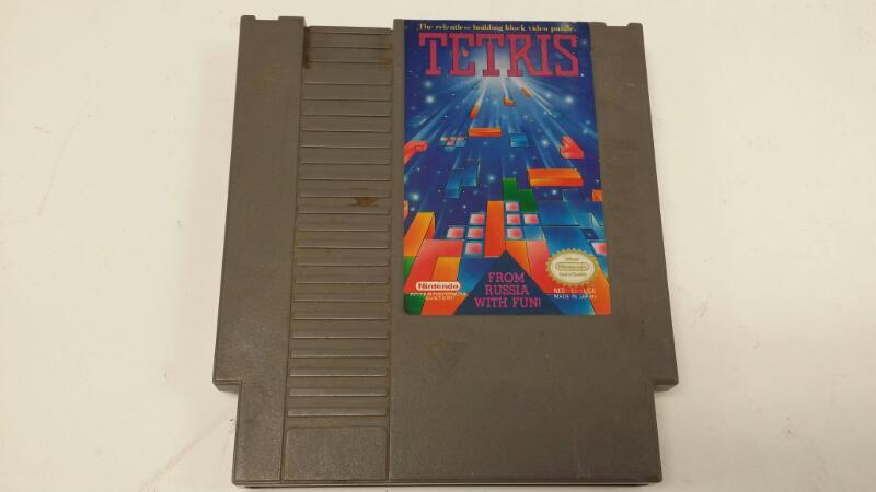 Original Nintendo NES Tetris Cartridge 1989