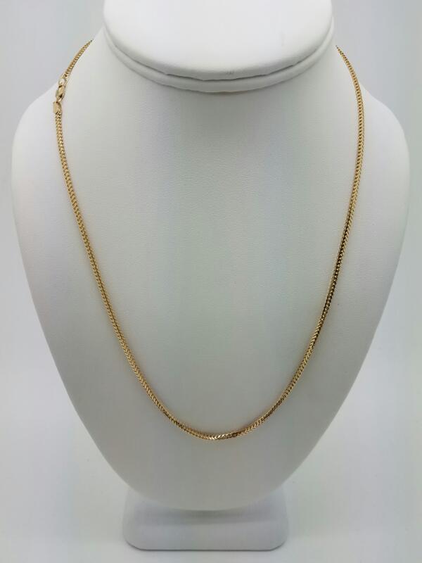 "20"" Gold Fashion Chain 14K Yellow Gold 5.8dwt"