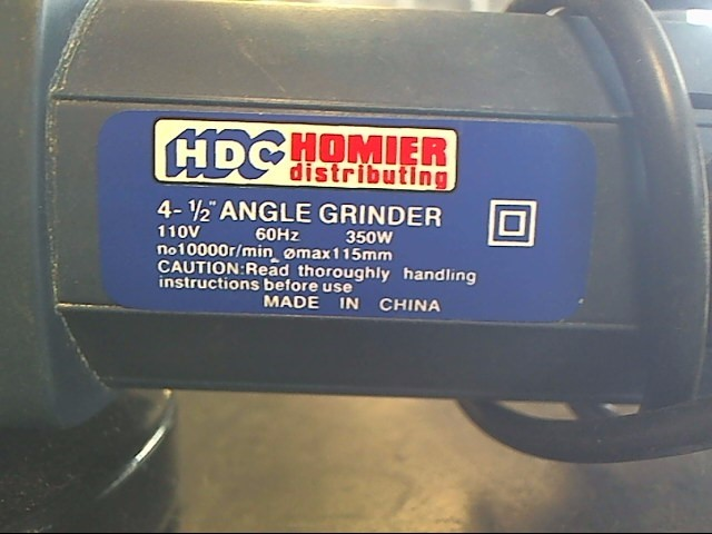 HOMIER Disc Grinder ANGLE GRINDER