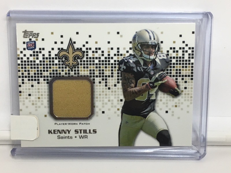 Topps 2013 Kenny Stills New Orleans Saints Player Worn Patch Card