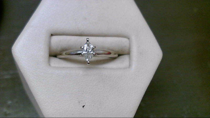 Lady's Diamond Solitaire Ring .20 CT. 14K White Gold 2.2g