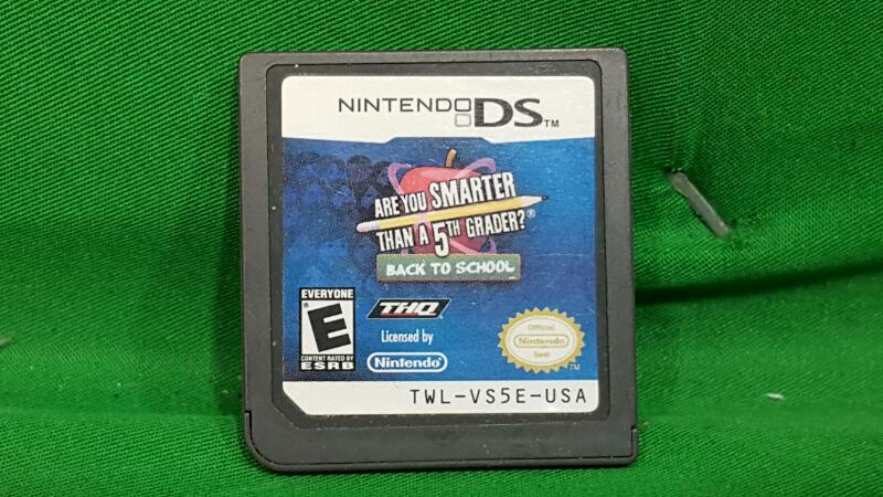 Are You Smarter Than a 5th Grader Back to School (Nintendo DS, 2010)