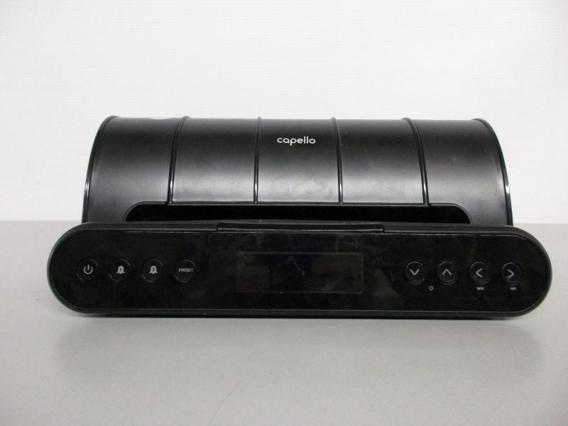 CAPELLO CR220 AM/FM RADIO/ALARM CLOCK/USB CHARGING STATION