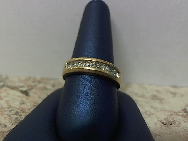 Gent's Diamond Fashion Ring 11 Diamonds .22 Carat T.W. 14K Yellow Gold 4.8g
