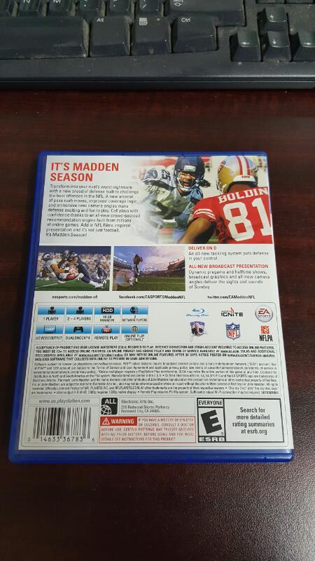 Madden NFL 15 (Sony Playstation 4, 2014) - PS4