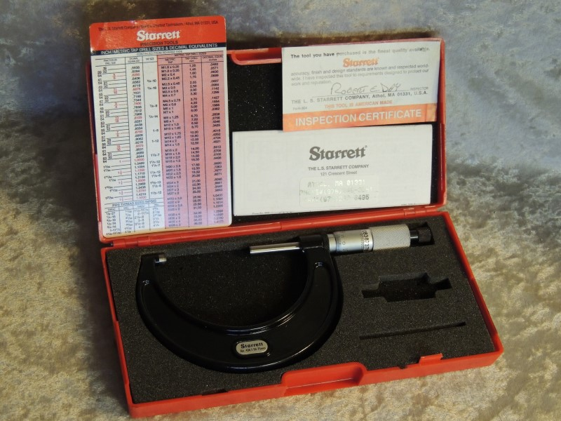 STARRETT 436 436.1MXRL-75 Outside Micrometer