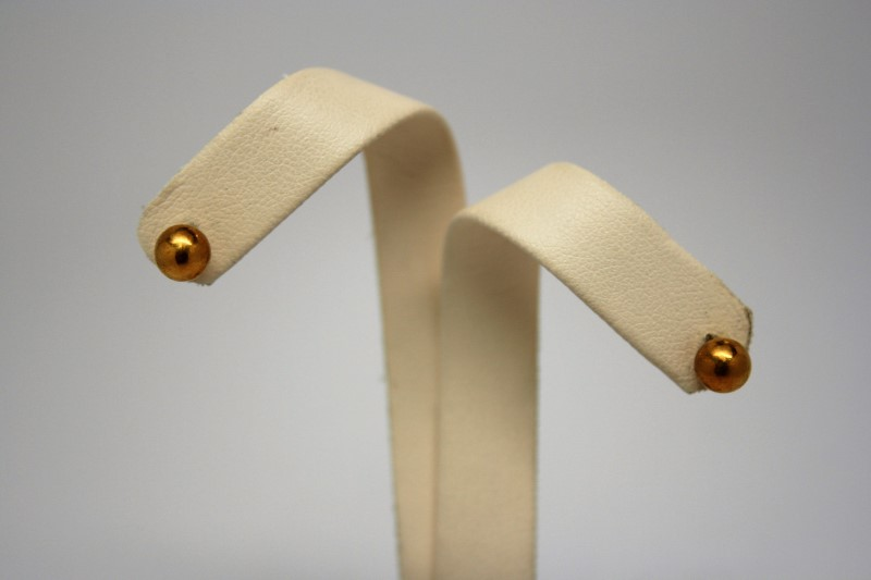 STUD STYLE GOLD EARRINGS 22K YELLOW GOLD