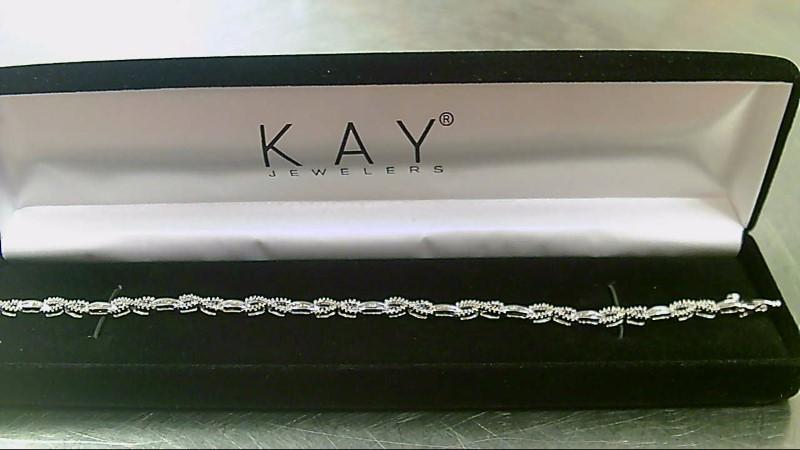 Gold-Diamond Bracelet 254 Diamonds 2.54 Carat T.W. 10K White Gold 8g