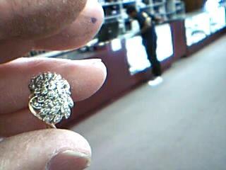Lady's Diamond Cluster Ring 32 Diamonds .64 Carat T.W. 14K Yellow Gold 5.9g