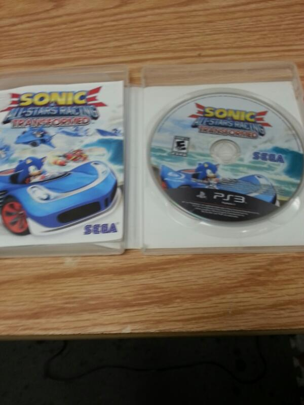 SONY Sony PlayStation 3 Game SONIC ALL STARS RACING TRANSFORMED PS3