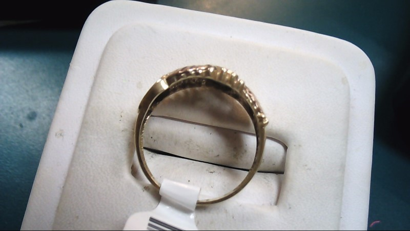 Lady's Gold Ring 14K Yellow Gold 2.5g Size:7.5