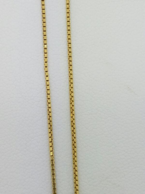 "17.5"" Gold Box Chain 18K Yellow Gold 1.7dwt"