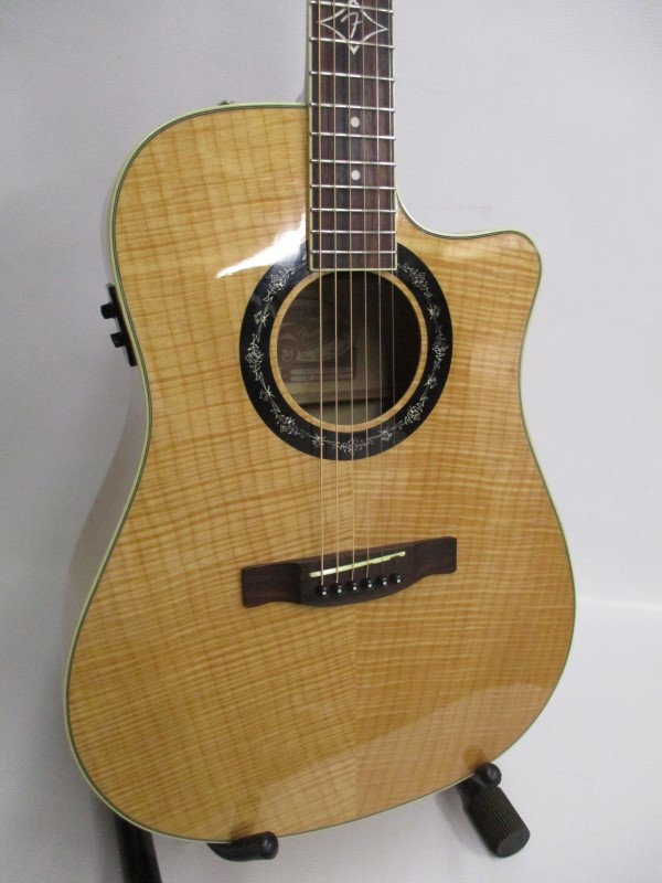 FENDER T-BUCKET 400CE FLAME MAPLE DREADNOUGHT CUTAWAY ACOUSTIC ELECTRIC