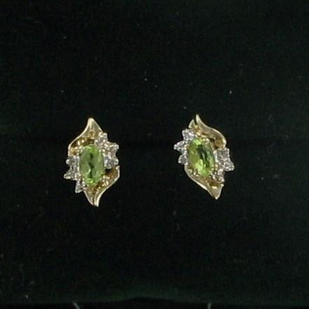 Gold Earrings 10K Yellow Gold 0.9dwt