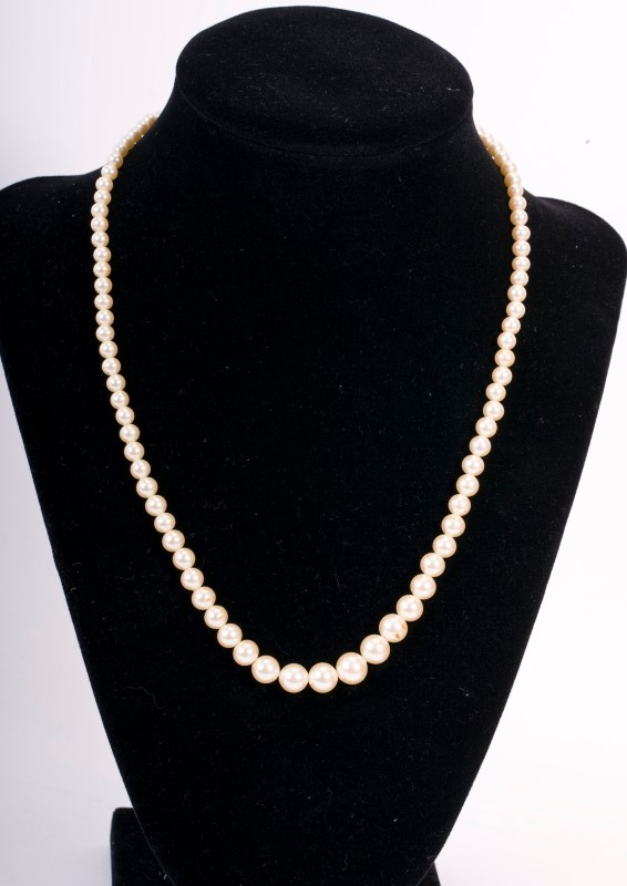"""Necklace Pearl w/S925 18"""" 18.9g"""