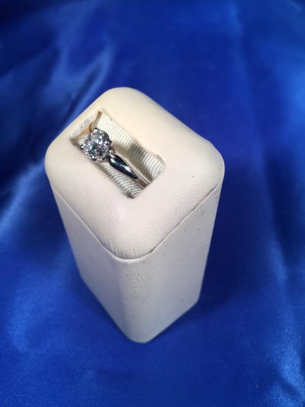Lady's Platinum-Diamond Solitaire .80 CT. 900 Platinum 4.1g
