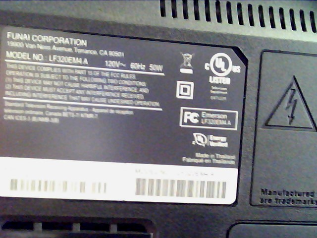 EMERSON LED TV NOT LCD Flat Panel Television LF320EM4 A