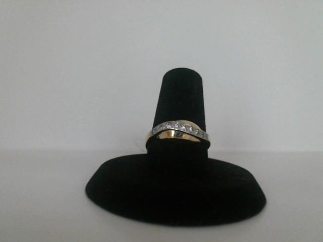 Lady's Diamond Cluster Ring 10 Diamonds .10 Carat T.W. 14K Yellow Gold 1.3dwt