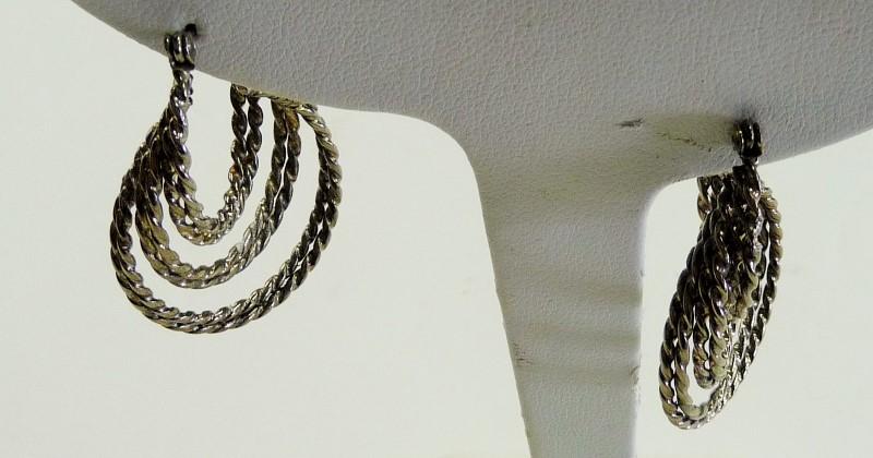 Silver Earrings 925 Silver 4.85dwt