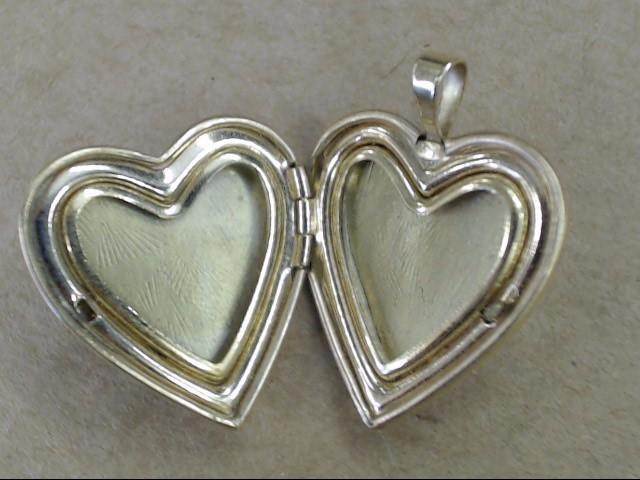 VINTAGE PEAR CUT AMETHYST HEART LOCKET PENDANT CHARM SOLID 14K GOLD