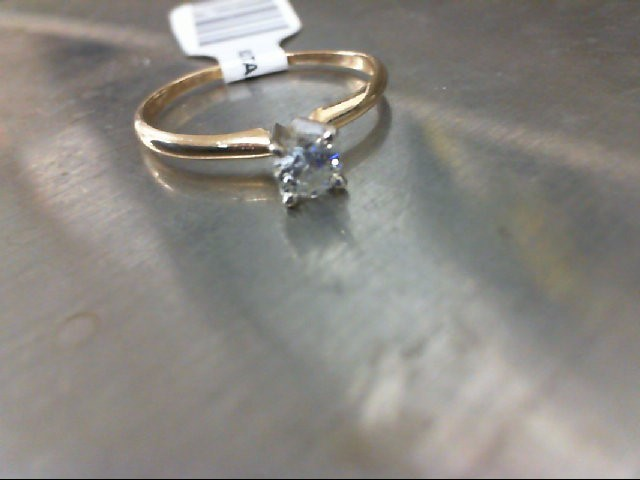 Lady's Diamond Solitaire Ring .20 CT. 14K Yellow Gold 1.1g