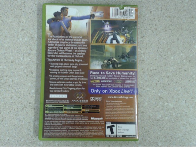Advent Rising (Microsoft Xbox, 2005) Complete