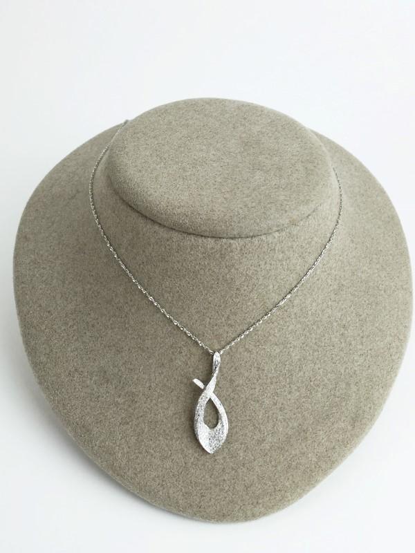 Diamond Necklace 70 Diamonds .70 Carat T.W. 14K White Gold 2.88g