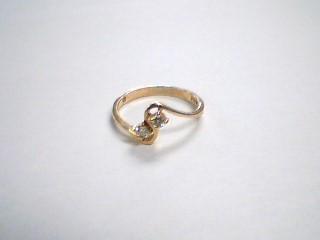Lady's Diamond Engagement Ring 2 Diamonds .10 Carat T.W. 10K Yellow Gold 1.3g