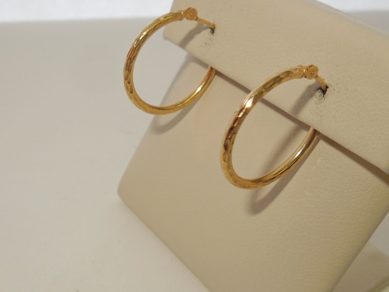 Gold Earrings 14K Yellow Gold 0.7g
