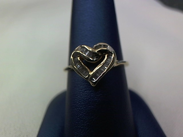 Lady's Diamond Fashion Ring 20 Diamonds .20 Carat T.W. 10K Yellow Gold 2.2g