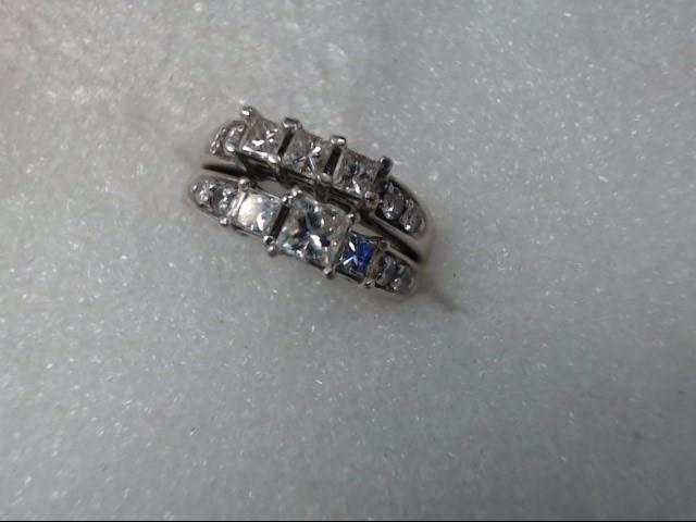 Lady's Diamond Wedding Set 6 Diamonds .06 Carat T.W. 14K Yellow Gold 6.55dwt