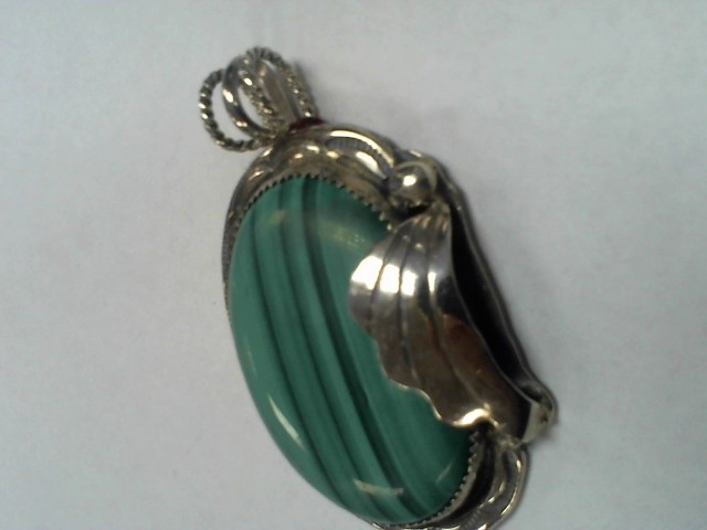 Turquoise Silver-Stone Pendant 925 Silver 39.5g