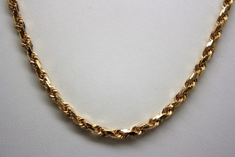 "20"" HEAVY ROPE STYLE CHAIN 14K YELLOW GOLD"