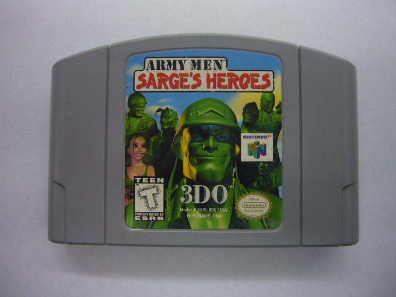 NINTENDO 64 Game ARMY MEN SARGES HEROS *CARTRIDGE ONLY*