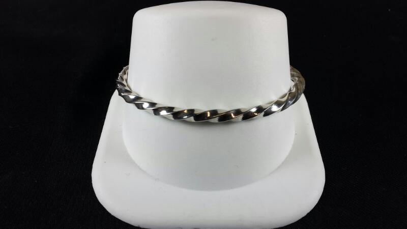 Designer Michael Kelch Twisted Knife Bracelet 925 Silver