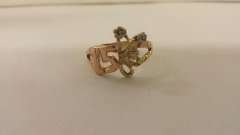 Lds 10K-YG 15TH Birthday Ring