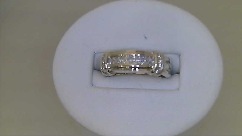 lady's sterling silver 925 sz 8 princess cut and round cz ring 5g