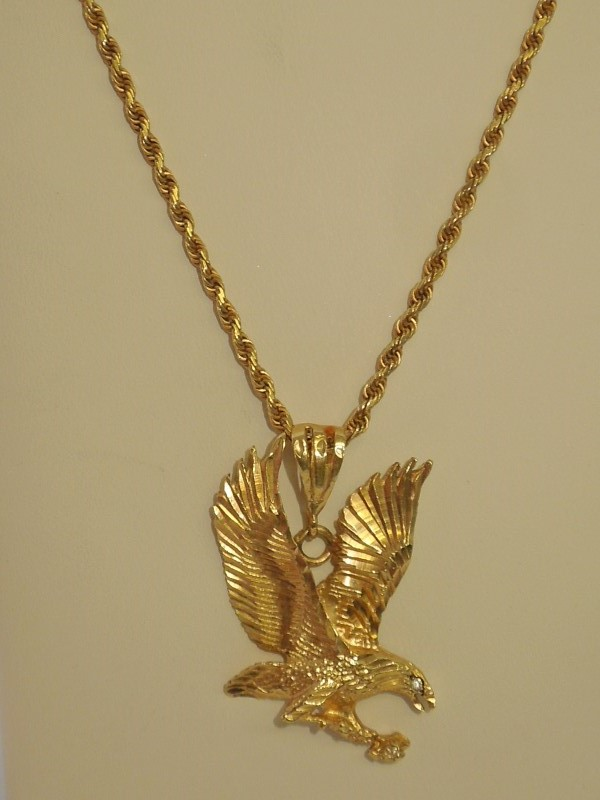 """12"""" Gold Rope Chain 14K Yellow Gold 24.5g"""