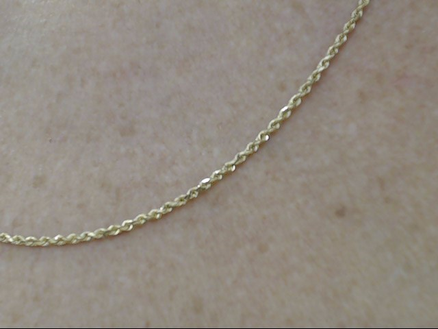 "VINTAGE 20"" ROPE NECKLACE CHAIN SOLID 14K YELLOW GOLD TWIST 1.5MM"