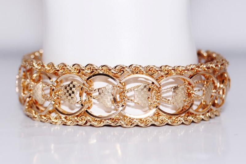 Gold Bracelet 14K Yellow Gold 34.4g